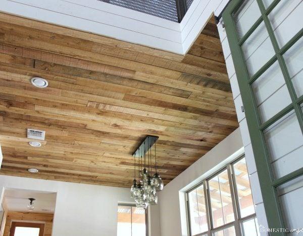 DIY Reclaimed Wood Ceiling (so cheap, so pretty)