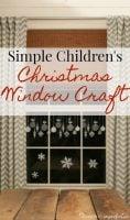 childrens window christmas craft