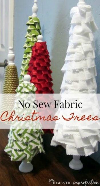 create no sew fabric christmas trees
