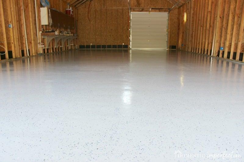DIY Garage Floor Coating With Flakes
