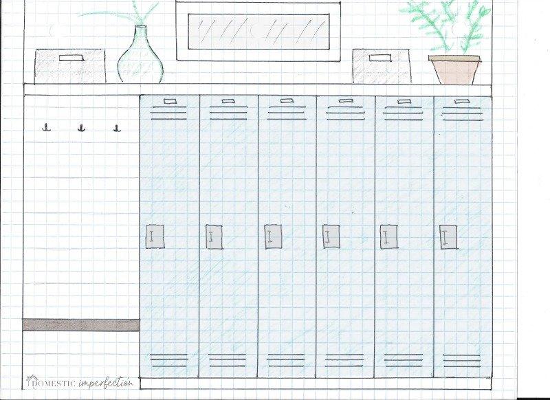 Planning the mudroom lockers