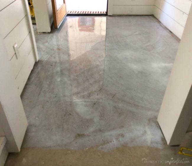 acid wash floor prep