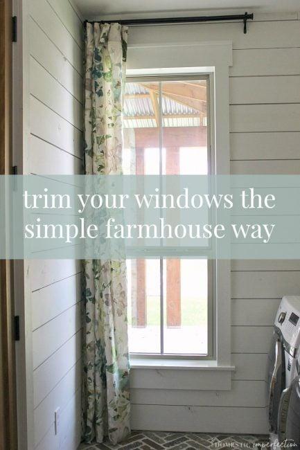 window trim- the simple way