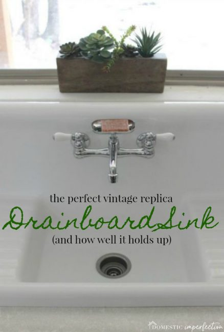farmhouse vintage drainboard sink