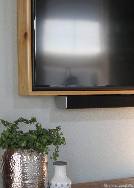 modern rustic tv frame