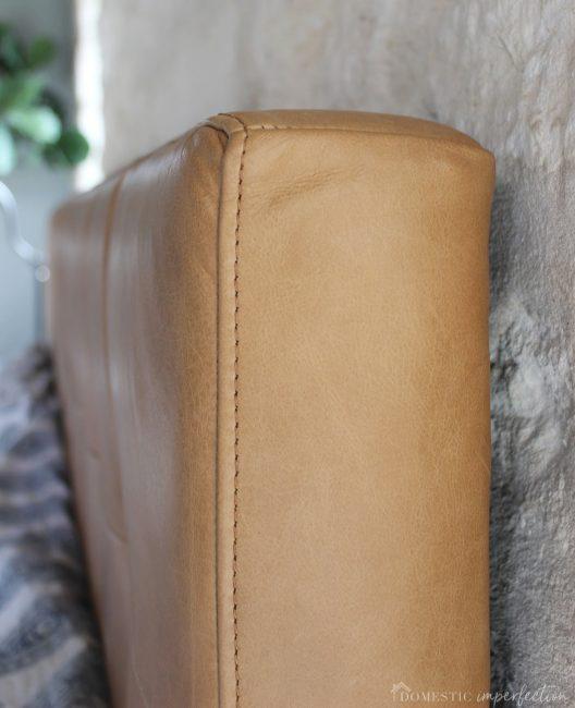 quality leather headbosrd
